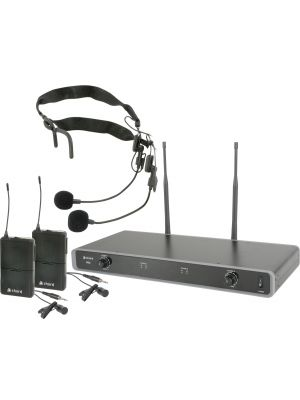 Trådløs Mikrofonpakke - Dual UHF Wireless Beltpack System