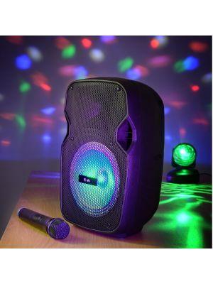 PARTYHØYTALER PAL8 Bluetooth, LED FX og Trådløs Mikrofon