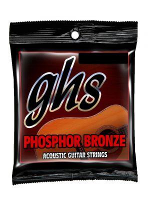 GHS S335-5 AC GUITAR. PHOSPHOR BRONZE. MED 5 PACK w/free bonus 6th set. Strengesett til akustisk gitar.