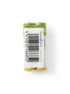 2 stk Alkaliske batterier AAA