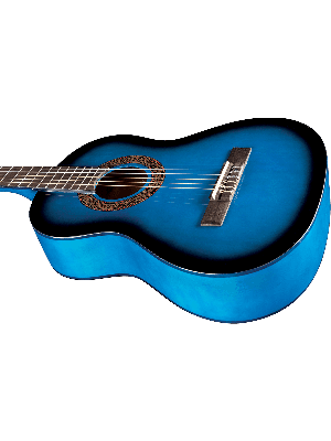 EKO CS-5-BLU Klassisk 3/4 gitar, blue gloss