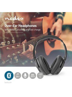 Bluetooth-Hodetelefoner, 24 Timers Spilletid, 25 dB Støyreduksjon. Hurtiglading