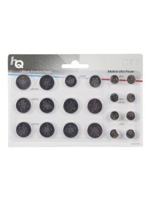 Knappcellebatteri, Litium/Alkalisk CR2016 / CR2032 / CR2025 / CR1620 / LR43 / LR54 / LR44 20-Blister
