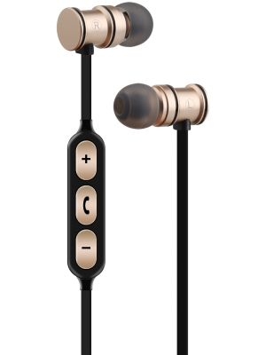 Metallic Magnetic Bluetooth® Earphones Gold EMBT1-GLD