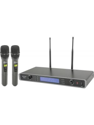 Tuneable Dual UHF Handheld Microphone System