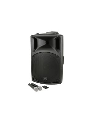 QTX QXPA-plus PA-Høytaler med bluetooth og 2 stk trådløse mikrofoner