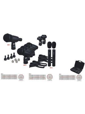 Alctron HAT8400 sett med 7 trommemikrofoner