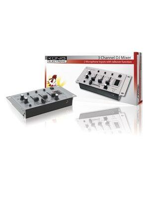 Kønig Basic 3-kanals DJ-mixer