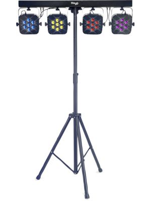 STAGG SLI FLATSET 1-0 7X3W RGB LED komplett lysanlegg