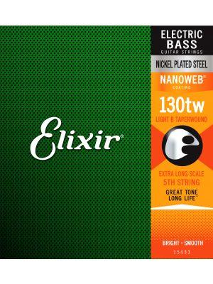 ELIXIR 15433 NANOWEB® Electric Bass Custom Singles 5th Medium XL B .130 XL TW . Strenger til Elektrisk bass.