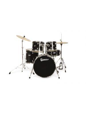 PREMIER OLYMPIC STAGE20 6190BK-S - Trommesett med cymbalpakke.