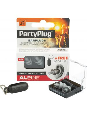 Alpine PartyPlug earplugs silver grey