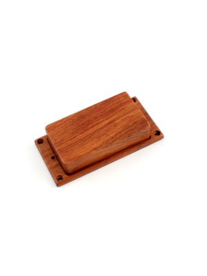 ALLPARTS PC-0304-0B0 Humbucking Pickup Cover No Holes Bubinga