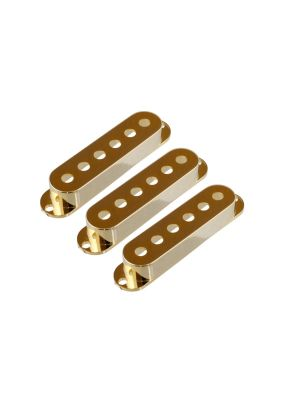 ALLPARTS PC-0406-002 Set of 3 Gold Pickup Covers for Stratocaster®