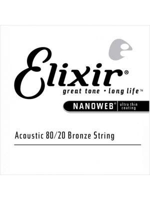 ELIXIR 15124 NANOWEB® 80/20 BRONZE SINGLE STRING 0.024. Streng.