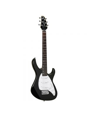 Tanglewood Baretta Electric TE 2 BK Double Cutaway Body with 3 Single Coil Pickups in Metallic Black Gloss