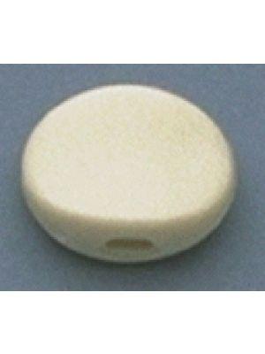 ALLPARTS TK-7710-B25 Plastic Oval Buttons White Bulk