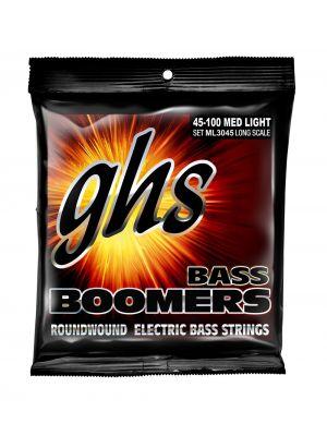 GHS ML3045 BASS. BOOMERS. STD LNG. MEDIUM LIGHT. DYB45-DYB100. Strengesett til elektrisk bass.
