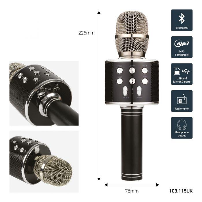 Karaoke Party Mikrofon . Rose Gold
