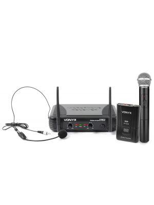 STWM712C VHF 2-KANALERS KOMBI MIKROFONSYSTEM
