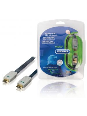 High Speed HDMI-Kabel med Ethernet Flat HDMI Kontakt - HDMI Kontakt 7.50 m