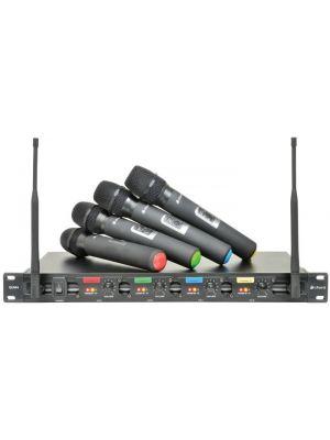 Trådløst mikrofonsystem m/ 4 stk håndholdte mikrofoner