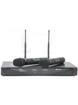 Trådløst mikrofonsystem m/ 2 stk håndholdt mikrofon