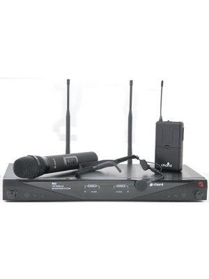 Trådløst mikrofonsystem m/ 1 stk håndholdt + 1 stk nakkebøyle mikrofon