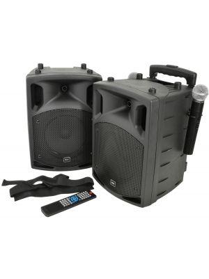 PAV8 bærbar PA sett med UHF Mikrofoner, Bluetooth® og DVD