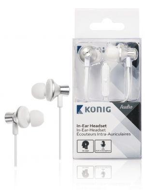 Øretelefoner med flat ledning, 13 mm, vinklet