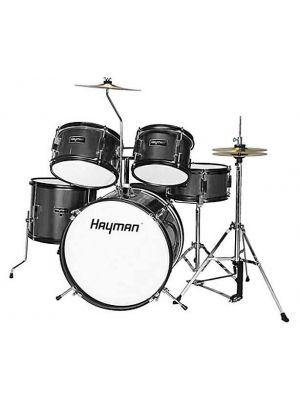 Trommesett Hayman Junior Series 5-piece drum kit (Sort)