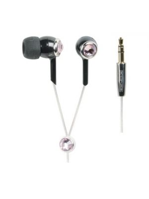 Crystal design in-ear hodetelefon rosa