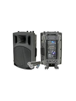 QX12PA Oppladbar Aktiv PA høytaler med USB/SD/FM player & Bluetooth
