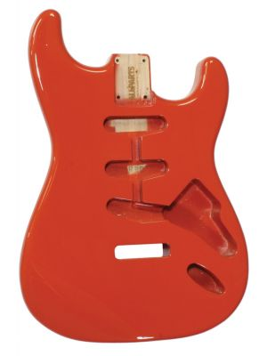 ALLPARTS SBF-FR Fiesta Red Finished Replacement Body for Stratocaster®