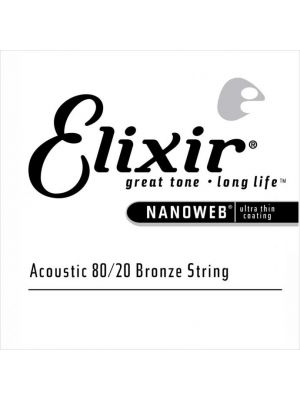 ELIXIR 15123 NANOWEB® 80/20 BRONZE SINGLE STRING 0.023. Streng.