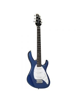 Tanglewood Baretta Electric TE 2 BL Double Cutaway Body, with 3 Single Coil Pickups in Metallic Blue Gloss