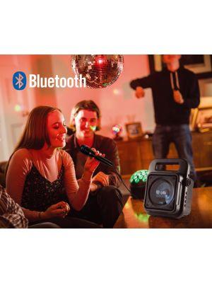 QTX EFFECT Bærbar Bluetooth Party Høytaler m/Mikrofon