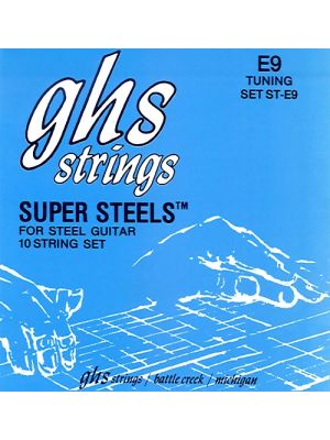 GHS SET ST-E9 Super Steels For Steel Guitar 10 String Set E9 Tuning